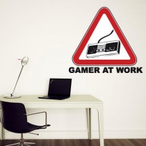 Stickers Gamer at work