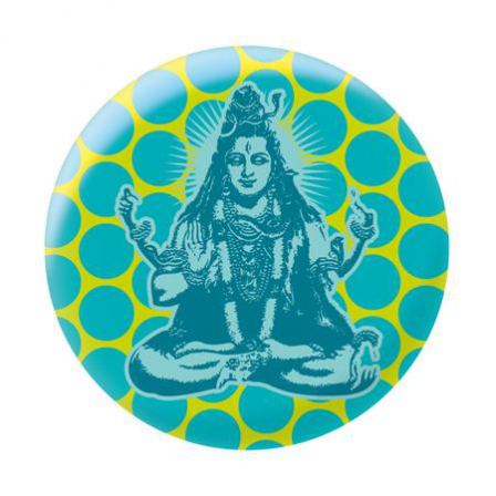 Badge shiva bleu