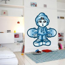 Stickers Blue skateboarder