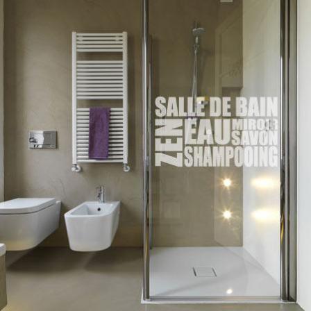 Stickers douche d poli salle de bain stickers malin - Sticker douche salle de bain ...