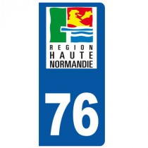 Stickers plaque 76 Haute Normandie