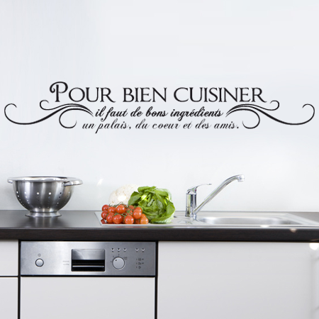 Stickers pour bien cuisiner stickers malin for Stickers cuisine phrase