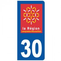 Stickers plaque 30 Languedoc Roussillon