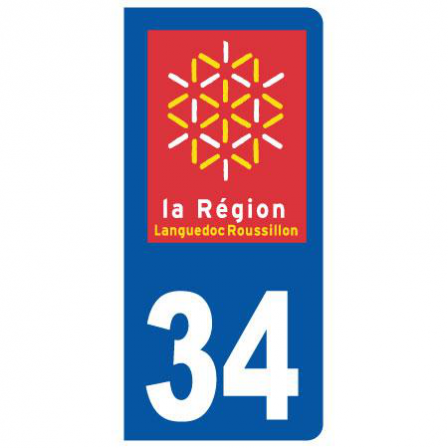 Stickers plaque 34 Languedoc Roussillon
