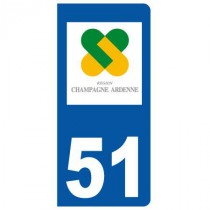 Stickers plaque 51 Champagne Ardenne
