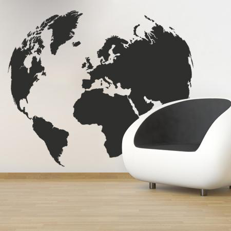 stickers carte du monde stickers malin. Black Bedroom Furniture Sets. Home Design Ideas