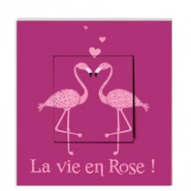 Stickers Interrupteur Amour de Flamant Rose