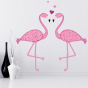 Stickers Amour de Flamant Rose