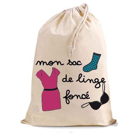 mon sac de linge fonc stickers malin. Black Bedroom Furniture Sets. Home Design Ideas