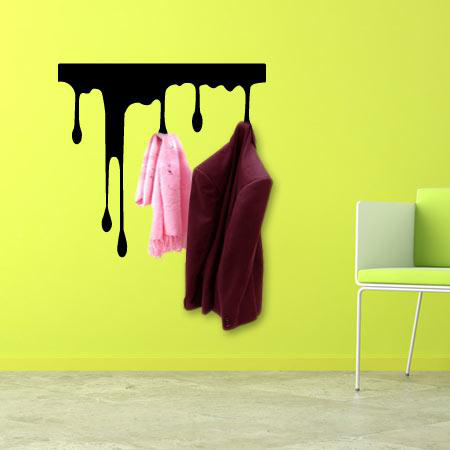 stickers porte manteau coulure stickers malin. Black Bedroom Furniture Sets. Home Design Ideas