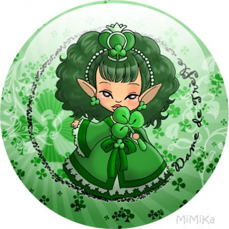 Badge Carte Princesse Trèfle