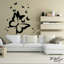 Stickers Silhouette Butterfly
