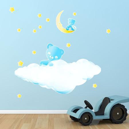 stickers b b ourson stickers malin. Black Bedroom Furniture Sets. Home Design Ideas