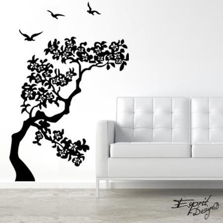 stickers arbre cerisier stickers malin. Black Bedroom Furniture Sets. Home Design Ideas