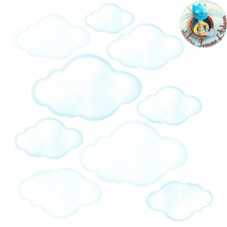 Stickers nuages blancs - Stickers Malin