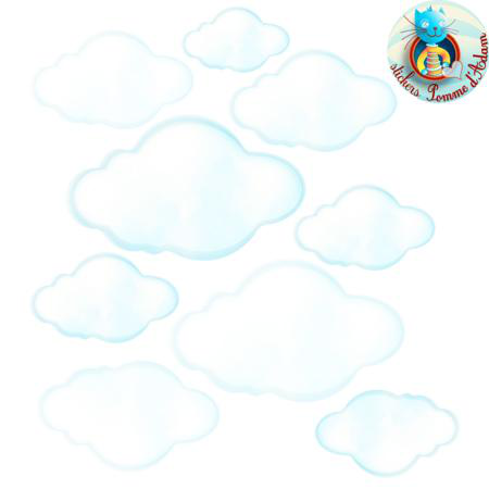 Stickers nuages blancs stickers malin - Stickers muraux nuages blancs ...