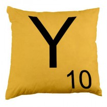 Coussin Lettre Y