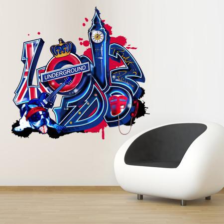 stickers london graffiti stickers malin. Black Bedroom Furniture Sets. Home Design Ideas