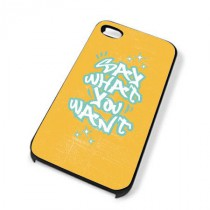 Coque iPhone 4 Say what you want - Orange