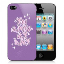 Coque iPhone 4 You make my day - Violet