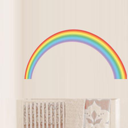 stickers arc en ciel chambre enfant stickers malin