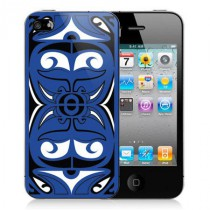 Coque iPhone 4 Tribal Bleu