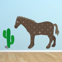 Stickers Cactus Cheval Cowboy