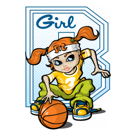 Stickers Basketball girl