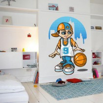 Stickers Basketball kid