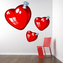 Stickers Coeur ballon rouge
