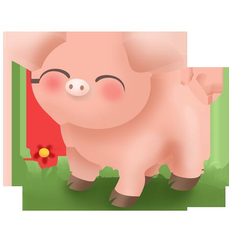 Stickers les animaux de la ferme - cochon - Stickers Malin