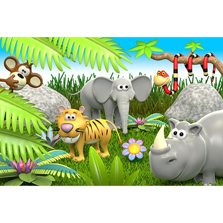 stickers animaux de la jungle stickers malin. Black Bedroom Furniture Sets. Home Design Ideas