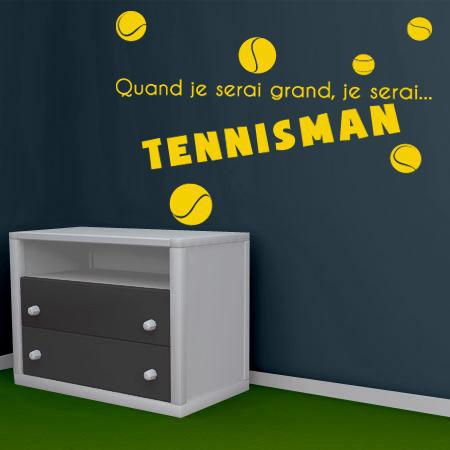 stickers je serai tennisman stickers malin. Black Bedroom Furniture Sets. Home Design Ideas