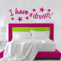 Stickers I have a dream étoiles