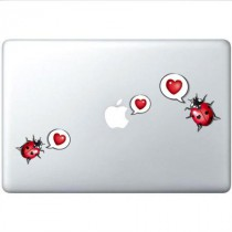 Stickers Apple deux coccinelles love