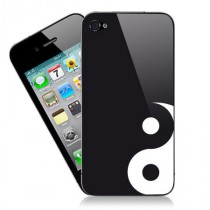 Stickers iPhone Black Ying Yang