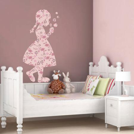 Stickers petite fille bulles liberty stickers malin for Stickers chambre petite fille