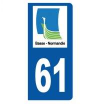 Stickers plaque 61 Basse Normandie