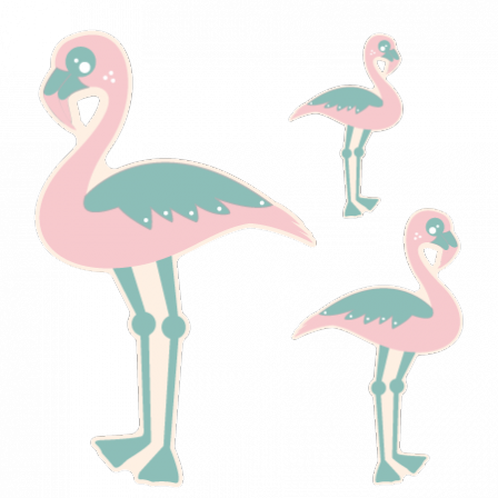 Stickers Flamands roses