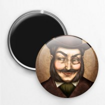 Badge Magnet Homme au monocle