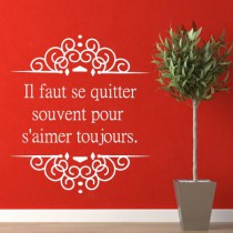 Stickers citation aimer toujours