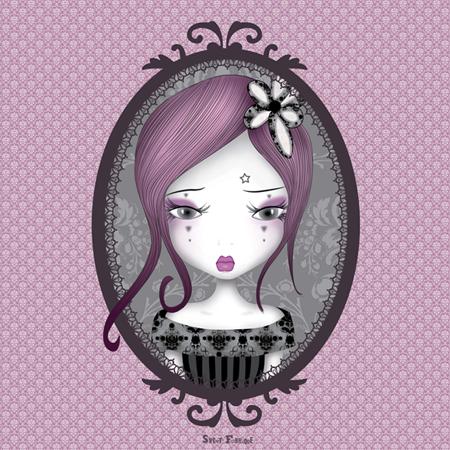 Miroir emo parfum d 39 amertume baroque stickers malin for Miroir au metre