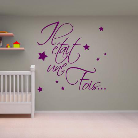 stickers il etait une fois stickers malin. Black Bedroom Furniture Sets. Home Design Ideas