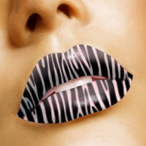 Lip Tattoo Zebra GL022