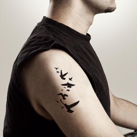 tatouages temporaires oiseaux stickers malin. Black Bedroom Furniture Sets. Home Design Ideas