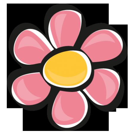 stickers fleur rose - stickers malin