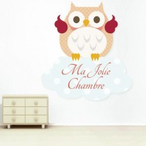 stickers Ma jolie chambre hibou orange