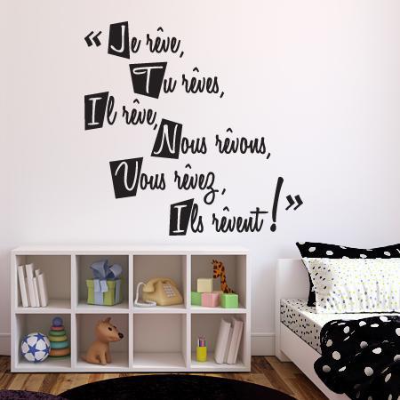 stickers citation r ver stickers malin. Black Bedroom Furniture Sets. Home Design Ideas