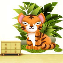 Stickers Collection Jungle - le tigre