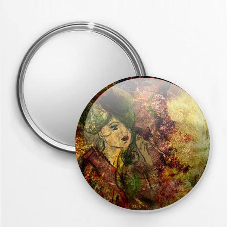 Miroir de poche lady spring stickers malin for Miroir au metre
